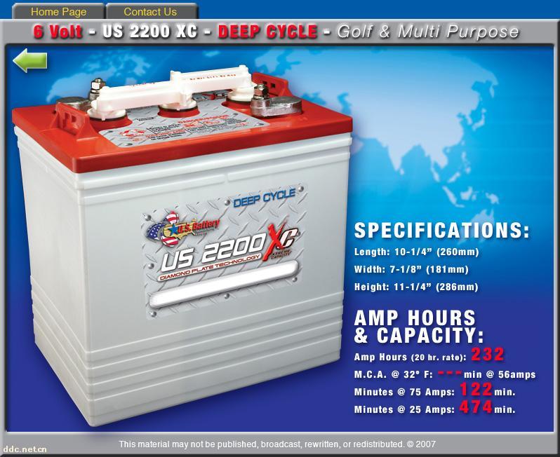 美国US电池